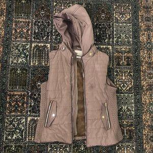 Vest puffer/vest with fur inside